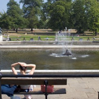 Mensen in Kensington Gardens