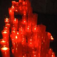 Kaarsen in de Iglesia de Santa Maria del Pi