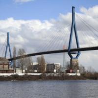 Beeld van de Köhlbrandbrücke