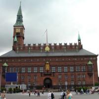 Totaalbeeld van het Stadhuis van Kopenhagen