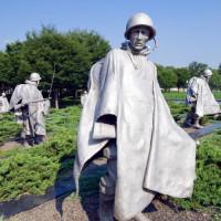 Beelden van het Korean War Memorial