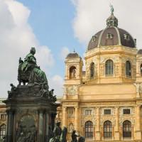 Standbeeld voor het Kunsthistorisches Museum
