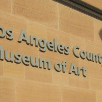 Naambord van het Los Angeles County Museum of Art