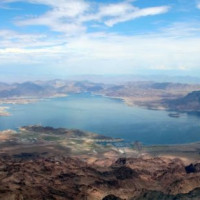 Vergezicht op Lake Mead