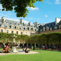 Parkje in Le Marais