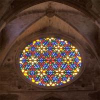 Raam in de Kathedraal La Seu