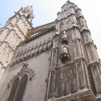Onder aan de Kathedraal La Seu