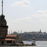 Totaalbeeld van de Leandertoren