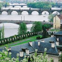Bruggen over rivier