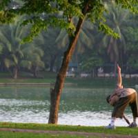 Sporten in het Lumphinipark