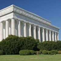Aan het Lincoln Memorial