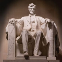 Vooraanzicht van Lincoln Memorial