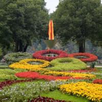 Tuin aan het Loezsjniki-stadion