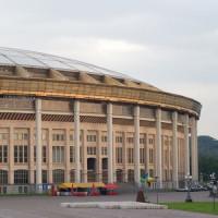 Buiten aan het Loezsjniki-stadion