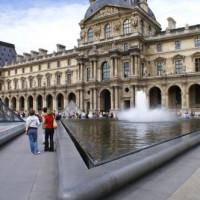 Aan het Louvre