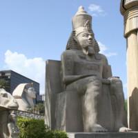 Egyptische beelden in Las Vegas