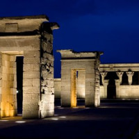 Overzicht van de Templo de Debod