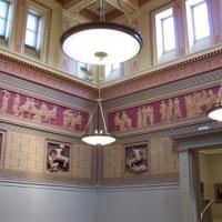 Binnen in de Manchester Art Gallery