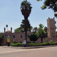 Zicht op het Manyal-paleis