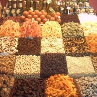 Specerijenkraam op de Mercat de la Boqueria