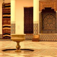 Binnen in het Musée de Marrakech
