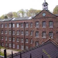 Zicht op de Quarry Bank Mill
