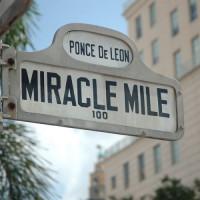 Naambord van de Miracle Mile
