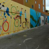 Zicht op de murals