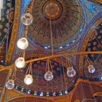 Plafond van de Mohammed Ali-moskee