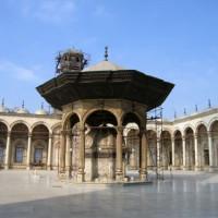 Binnenplaats van de Mohammed Ali-moskee