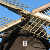 Close up van de Sint-Janshuismolen