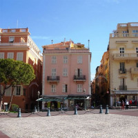 Straatbeeld in Monaco-Ville