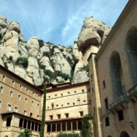Zicht op de berg Montserrat