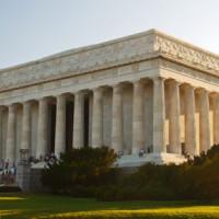 Buiten aan het Lincoln Memorial