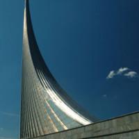 Zicht op een monument in Moskou
