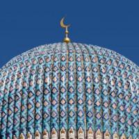 Koepel op de Moskee van Sint-Petersburg