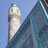 Minaret van de Moskee van Sint-Petersburg