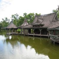 Deel van de Oude Stad in Bangkok