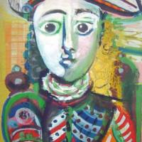 Schilderij in het Musée Picasso