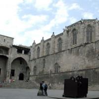 Zicht op het museum van de geschiedenis van Barcelona