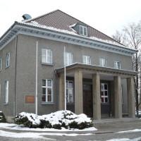 Voorkant van het Museum Berlin-Karlshorst