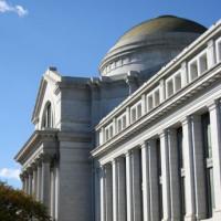 Zijaanzicht van het National Museum of American History