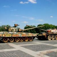 Tanks bij het Museum van de Grote Vaderlandse Oorlog
