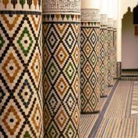Zuilen in het Musée de Marrakech