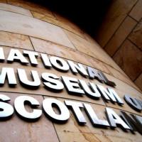 Close up van het Museum of Scotland