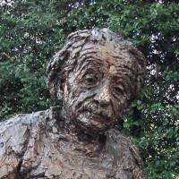 Hoofd van Einstein