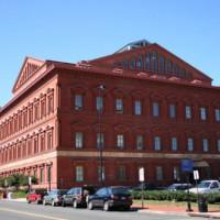Zijkant van het National Building Museum