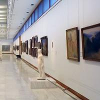 Binnenzicht van de Nationale kunstgalerij van Athene