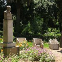 Prachtige Nationale tuinen van Athene