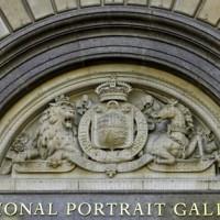 Naambord van de National Portrait Gallery